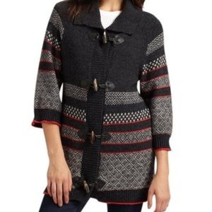 Splendid Fair Isle Toggle Sweater